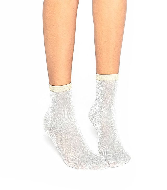 ASOS Glitter Socks With Contrast Top