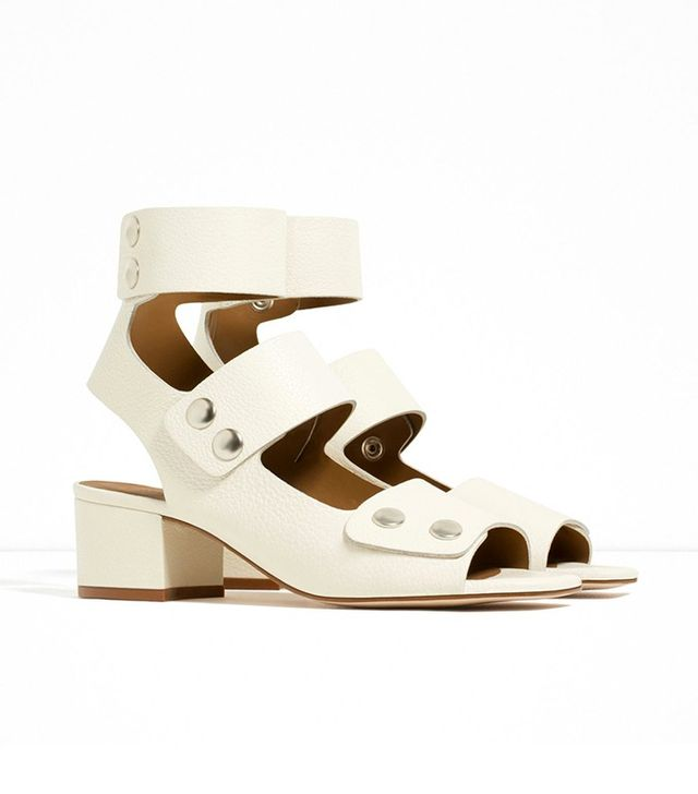 Zara Leather Boot-Style Sandals