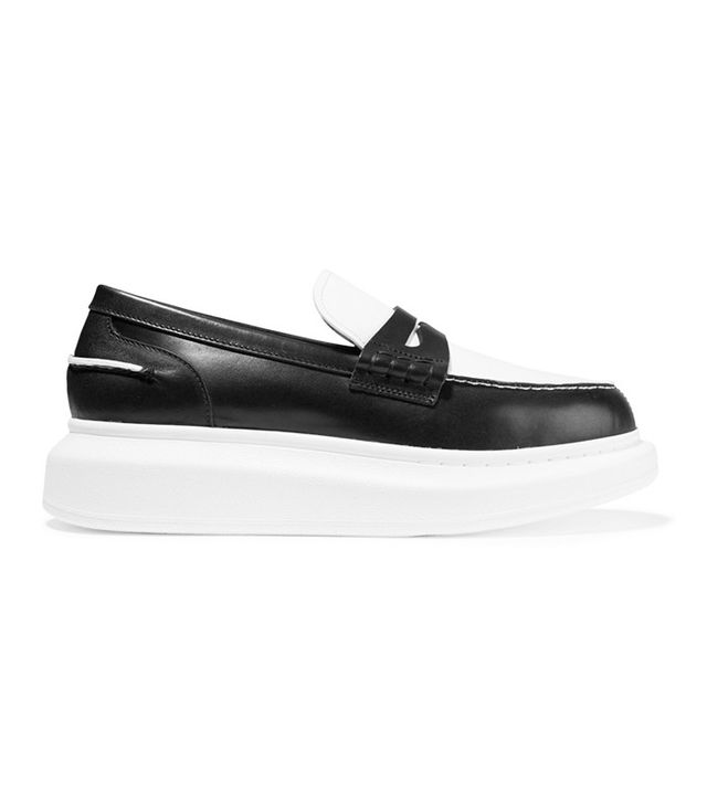 Alexander McQueen Two-Tone Leather Loafers