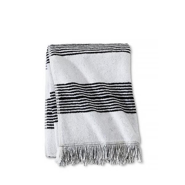 Nate Berkus Fringe Stripe Bath Towels