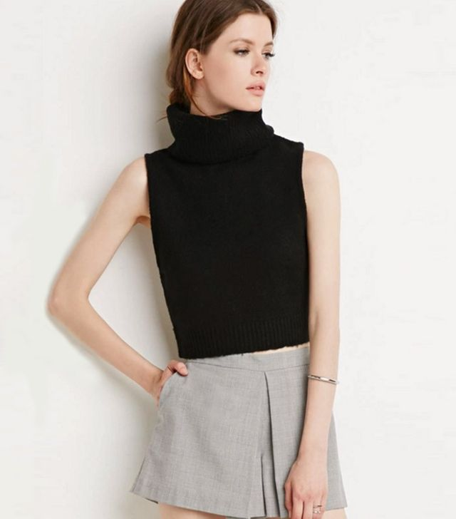 Forever 21 Contemporary Turtleneck Sweater Vest
