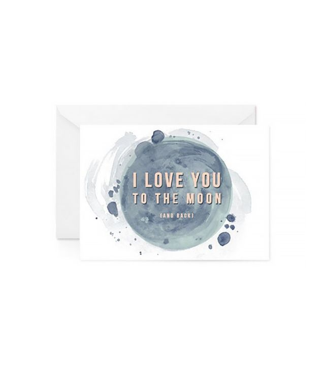 Paper Raven Co. I Love You to the Moon Card