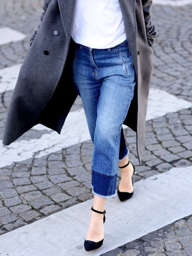 A Blogger Approved Way To Wear Cropped Wide Leg Jeans