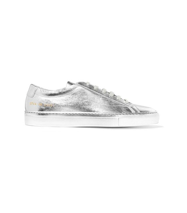 Common Projects Original Achiles Metallic Leather Sneakers