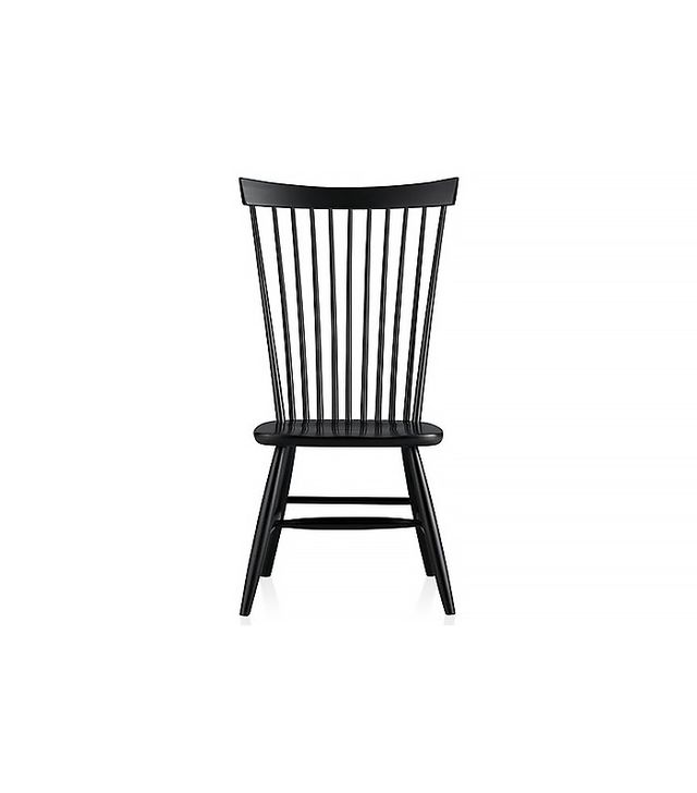 Crate & Barrel Marlow II Black Wood Dining Chair
