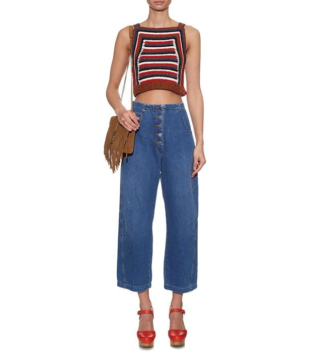 Rachel Comey Elkins High-Waisted Cropped Jeans