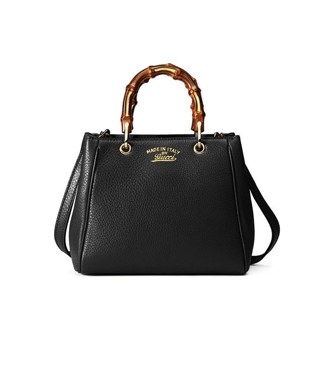 Gucci Bamboo Shopper Leather Mini Bag
