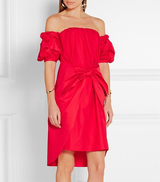 Johanna Ortiz Poppy Off-the-Shoulder Dress