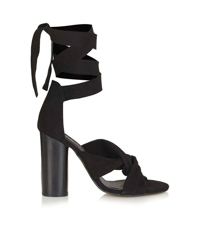 Topshop Rosa Suede Knot High Sandals
