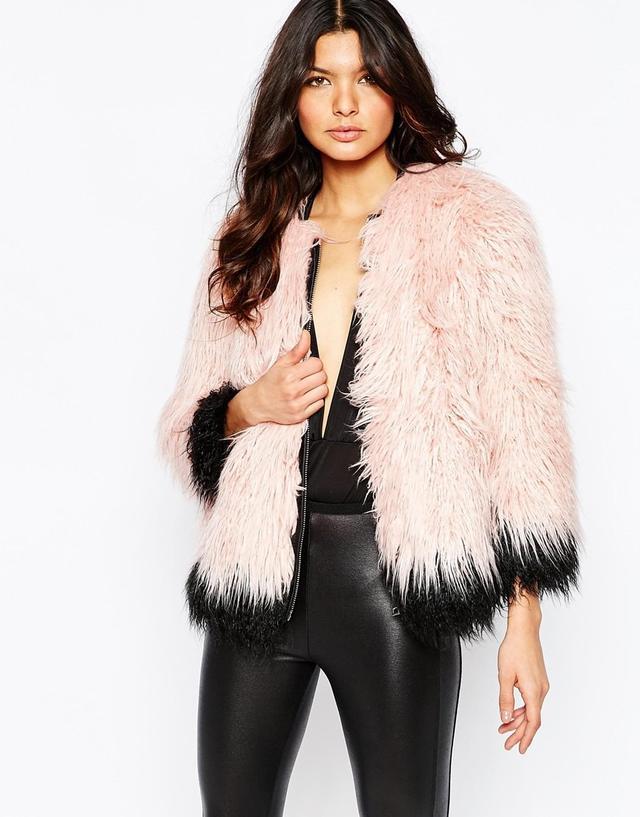 River Island Premium Mongolian Faux Fur Coat