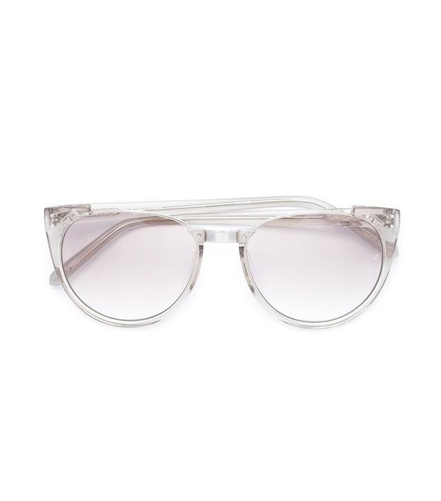 Linda Farrow Round Cut-Out Sunglasses