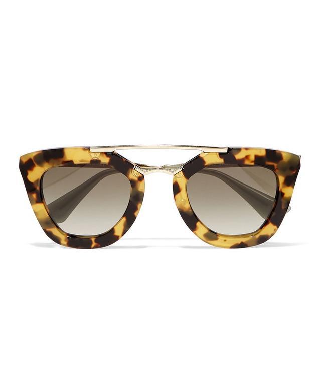 Prada D-Frame Acetate and Metal Sunglasses