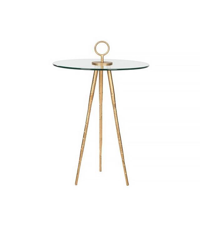 One Kings Lane Wyatt Glass Side Table