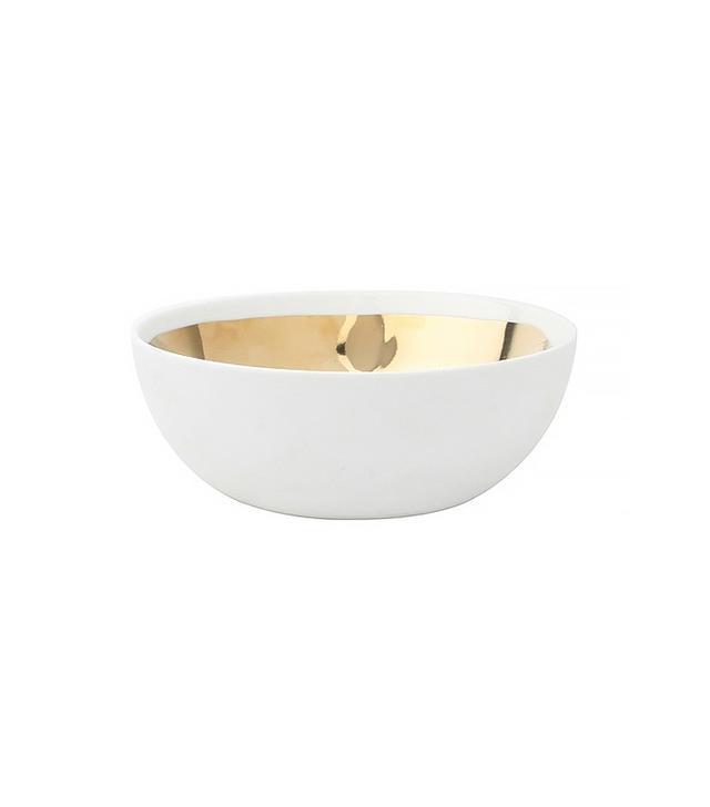 Dot & Bo What's on the Inside Gold Glazed Bowl