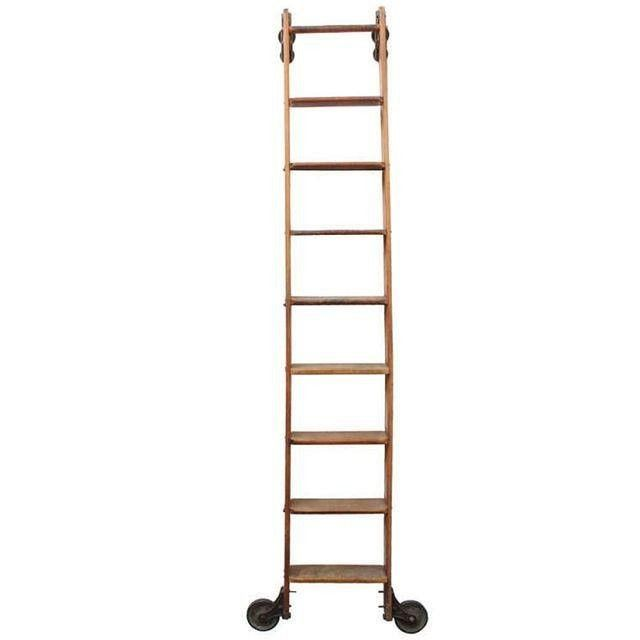 Chairish Vintage Sliding Harold Library Ladder