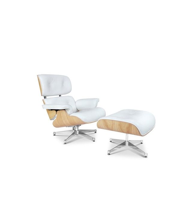Eames Inspired Plywood Lounge Chair and Ottoman
