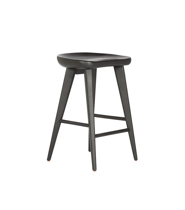Rejuvenation Black Tractor Seat Counter Stool