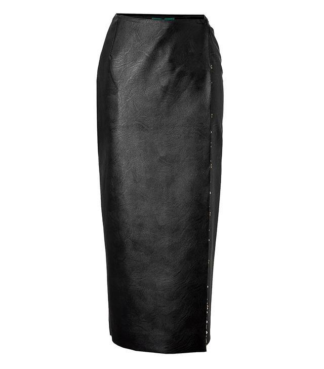 Emilia Wickstead Faux Leather Wrap Skirt