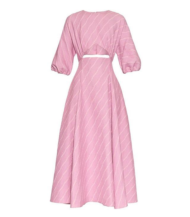 Emilia Wickstead Gloria Striped Cut-Out Dress