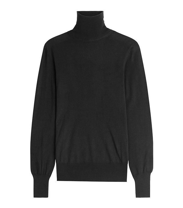 Emilia Wickstead Merino Wool and Silk Turtleneck Top