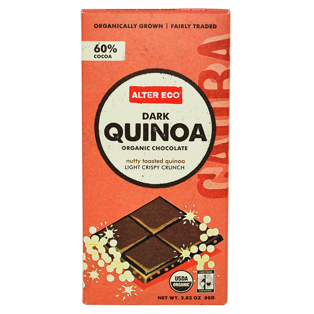 Alter Eco Dark Quinoa Organic Chocolate Bar