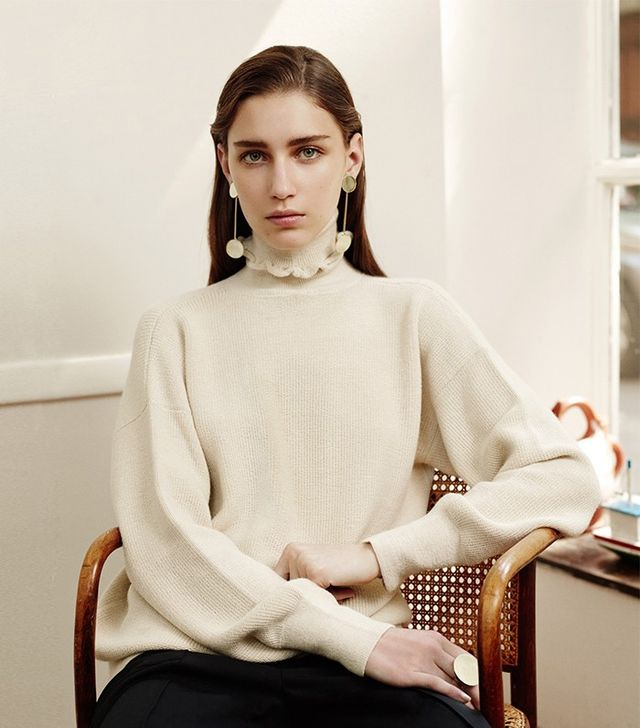 Trademark Ruffle Turtleneck Sweater