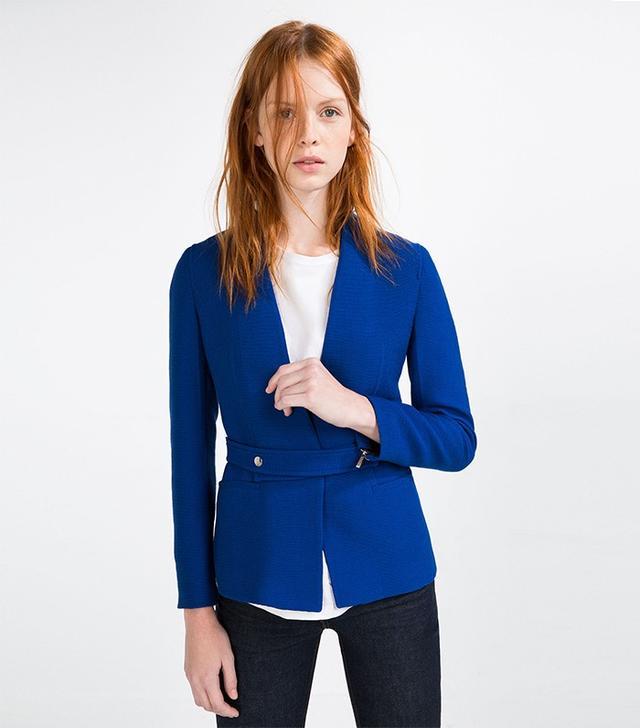 Zara Fabric Belt Blazer