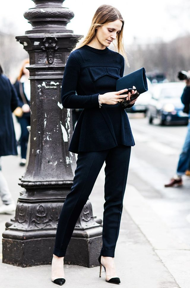 Day 27: Take your all-black look to the next level with interesting details.
