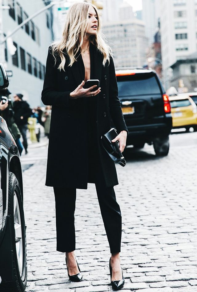 Day 11: Show some skin in an all-black ensemble.