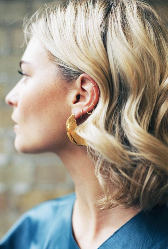 Day 21: Hop on the hoop earrings trend.