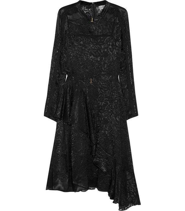 Preen by Thornton Bregazzi Amendine Lace-Trimmed Devore-Chiffon Dress