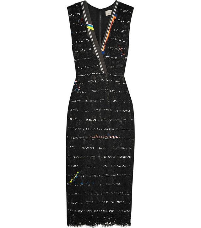 Preen by Thornton Bregazzi Esen Cotton-Blend Corded-Lace Dress