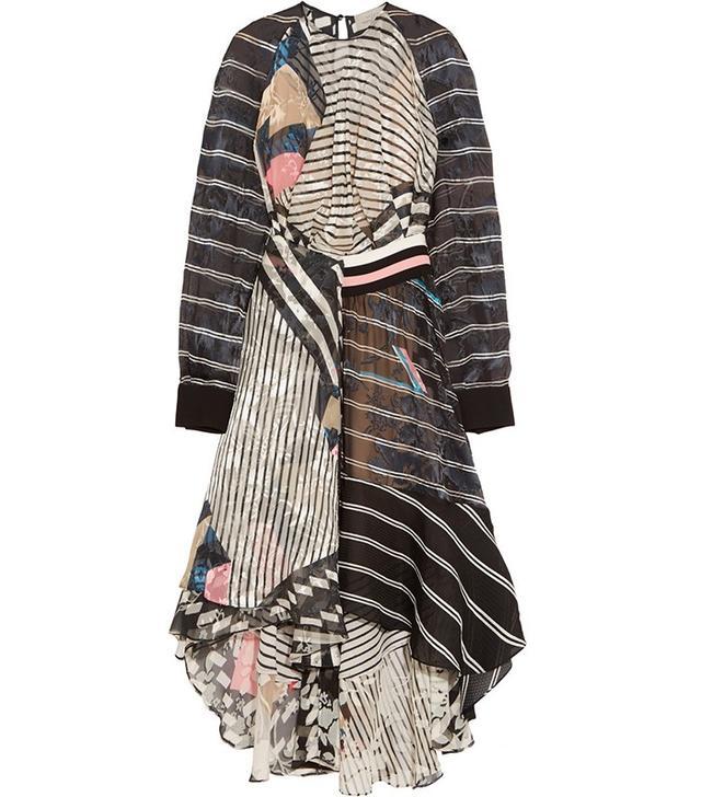 Preen by Thornton Bregazzi Caliste Printed Devore-Chiffon Dress