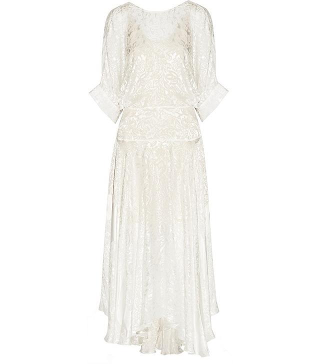 Preen by Thornton Bregazzi Devore-Satin Midi Dress