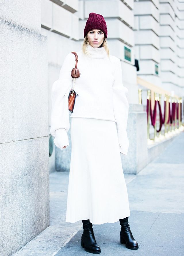 On Veronika Heilbrunner: Céline jumper; Altuzarra boots.