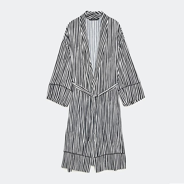 monochrome: Zara Striped Kimono