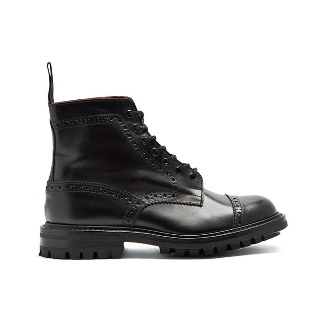 monochrome: Junya Watanabe X Trickers Leather Ankle Boots