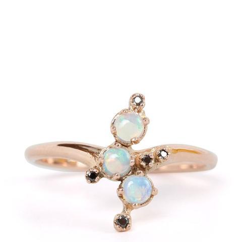 Black Magic Opal Ring