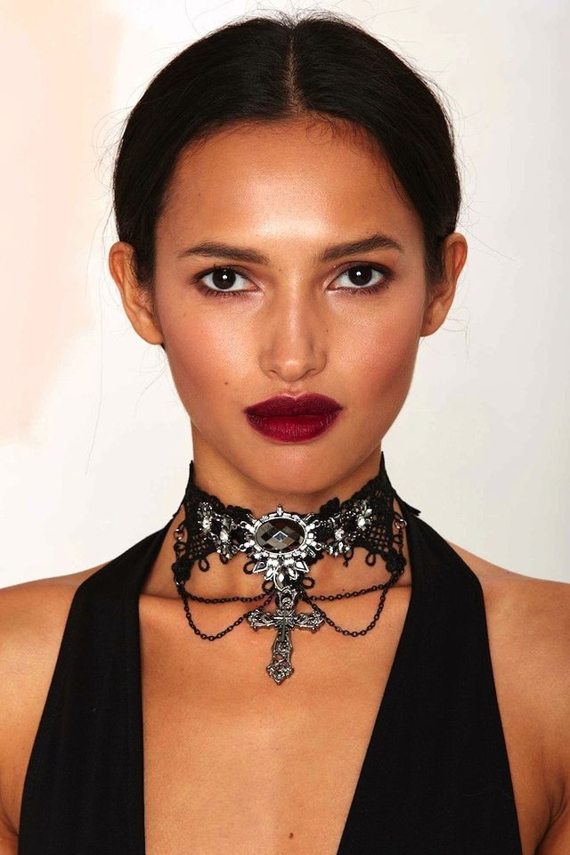 Nasty Gal Gothed Up Lace Choker