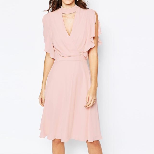 Elise Ryan Cross Front Dress