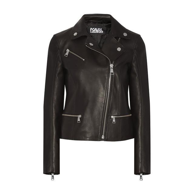 Karl Lagerfeld Ikonik Odina Leather Jacket