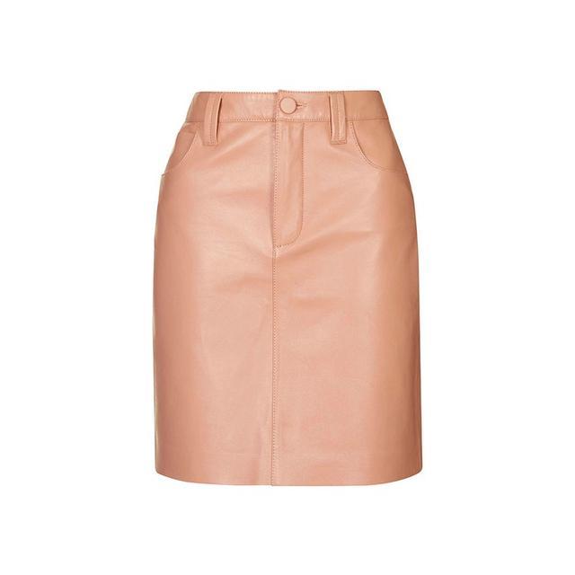 Topshop Unique Draycott Leather Skirt