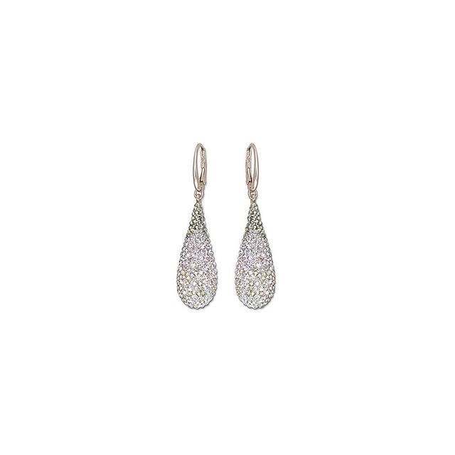Swarovski Abstract Nude Pierced Earrings