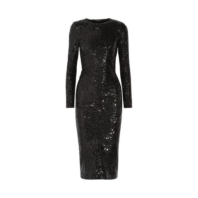 Donna Karan New York Sequin Stretch Woven Dress