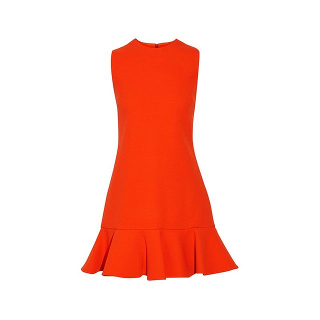 Victoria, Victoria Beckham Fluted Hem Dress