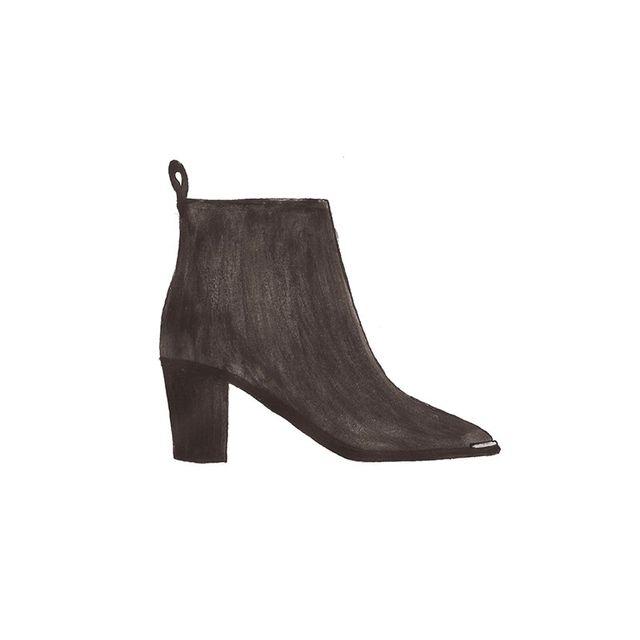 Acne Studios Loma Leather Ankle Boot