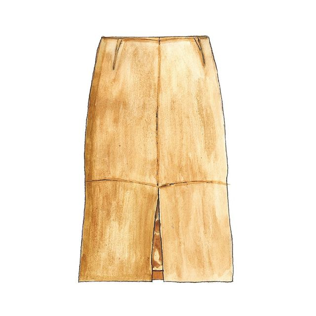 J Crew Collection Suede Skirt