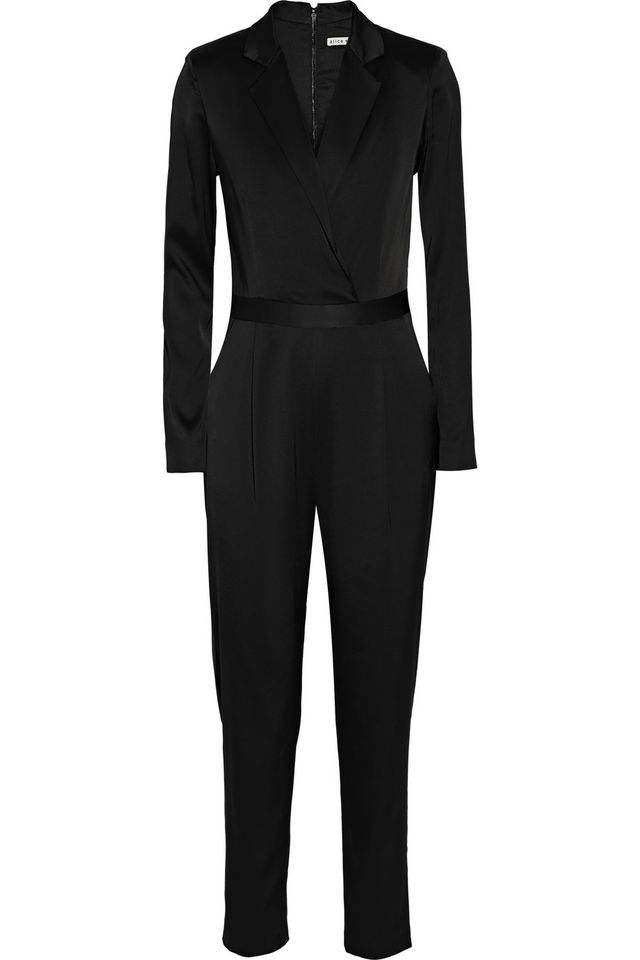 Alice + Olivia Violette Wrap Effect Jumpsuit