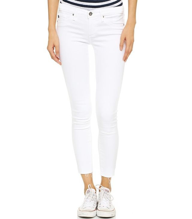 AG Raw Hem Ankle Jeans