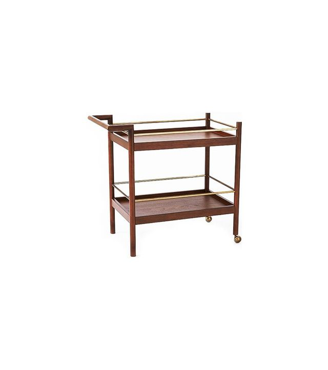 West Elm Mid-Century Bar Cart, Pecan